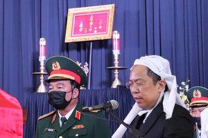 Con trai nguyên Phó Thủ tướng Trương Vĩnh Trọng nghẹn ngào nói lời tiễn biệt cha