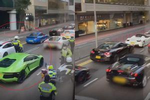 Cảnh sát Hong Kong chặn 45 ôtô sang vì nghi đua xe