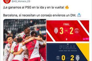 Đánh bại PSG, Monaco chế nhạo Barcelona trên Twitter