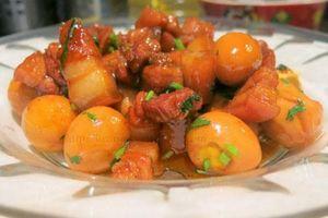 Cách làm thịt kho trứng cút ngon tuyệt hảo hễ ăn là nghiện