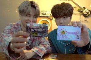 Cùng trang trí photo card mà Jin và Jimin đã nhanh chóng nhận được biệt danh mới
