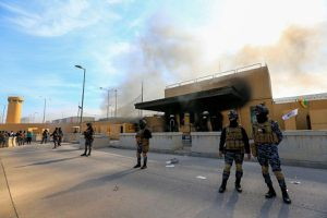 Loạt tên lửa nã vào Đại sứ quán Mỹ ở Iraq