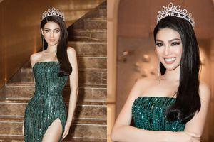 Á hậu Ngọc Thảo catwalk 'lốc xoáy' ấn tượng trong họp báo công bố tham dự Miss Grand International