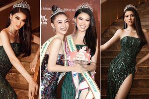 Á hậu Ngọc Thảo khoe chân dài 1m11 'cực phẩm', nhận sash Miss Grand Vietnam từ Kiều Loan