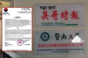 Campuchia rút giấy phép hoạt động của báo đưa tin bịa đặt về Covid-19