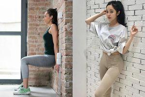 Bài tập đứng dựa vào tường 5 phút giúp giảm cân nhanh, chân và đùi săn chắc