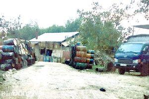 Lo ô nhiễm môi trường từ cơ sở tái chế nhớt thải