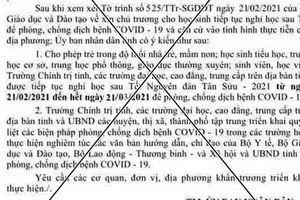 Thông tin chính thức vụ giả mạo văn bản cho học sinh Quảng Nam nghỉ học