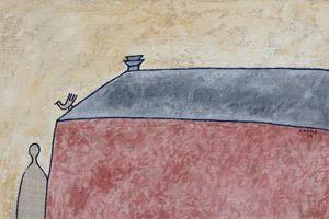 Tranh tối giản Lê Thiết Cương dựa trên những vần thơ 'Bến lạ' của Đặng Đình Hưng