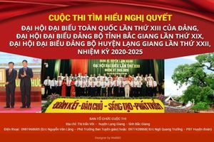 Lạng Giang (Bắc Giang) tổ chức thi tìm hiểu về Nghị quyết Đại hội XIII