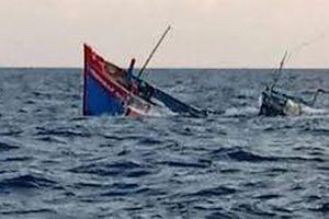 Bị tàu hàng đâm va, tàu cá của ngư dân Khánh Hòa chìm tại chỗ