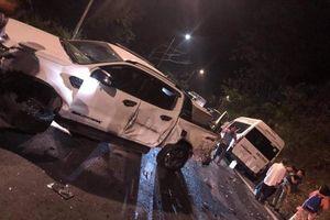 Tai nạn liên hoàn trên đèo Bảo Lộc, nhiều phương tiện hư hỏng