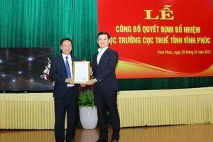 Cục phó Thuế Phú Thọ được bổ nhiệm làm Cục trưởng Thuế Vĩnh Phúc