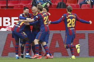 Messi lại tỏa sáng, Barcelona áp sát ngôi đầu bảng