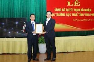 Phó Cục trưởng Cục Thuế tỉnh Phú Thọ làm Cục trưởng Cục Thuế tỉnh Vĩnh Phúc