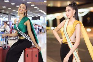 Ngọc Thảo đi ngay nước cờ của Miss Universe Catriona Gray, giật spotlight ở sân bay Thái Lan