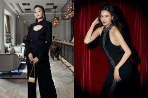 Thanh Hằng, Lan Ngọc đọ sắc với trang phục đen