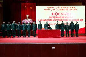 Bộ CHQS tỉnh: Phát động Đợt thi đua đột kích 'Mừng Đảng, mừng xuân, ra quân quyết thắng'