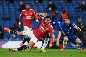 Bruno Fernandes mờ nhạt, Man Utd bị Chelsea níu chân
