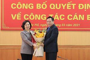 Đồng chí Lê Thị Thu Hằng được phân công làm Bí thư Quận ủy Tây Hồ