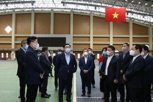 Bí thư Thành ủy Hà Nội Vương Đình Huệ trực tiếp kiểm tra các công trình phục vụ SEA Games 31