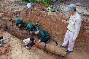 Bộ CHQS tỉnh Quảng Bình hủy nổ quả bom nặng 227kg