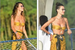 Siêu mẫu Alessandra Ambrosio khoe vòng 1 'nóng bỏng'