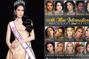Missosology dự đoán Phương Anh giành ngôi Á hậu 1 tại Miss International 2021