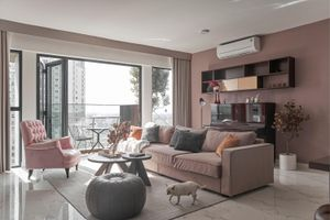Căn hộ sắc hồng lãng mạn 170 m2 tại TP Thủ Đức
