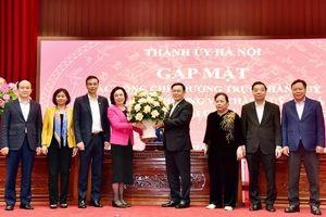 Thành ủy Hà Nội gặp mặt các đồng chí Thường trực Thành ủy, Ủy viên Ban Thường vụ Thành ủy Hà Nội khóa XVI