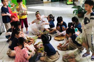 Trường mầm non 'giải cứu' nông sản cho vùng dịch Hải Dương