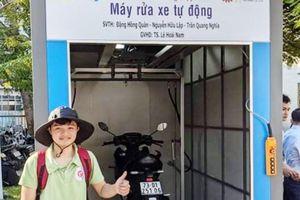 Máy rửa xe tự động 'made in sinh viên Bách khoa' được doanh nghiệp đặt hàng