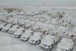'Thị trấn ma' ở Nga gần như tàng hình trong tuyết
