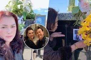 Khoảnh khắc bà xã Phương Loan 'hôn gió' trước di ảnh cố NS Chí Tài khiến fan xúc động
