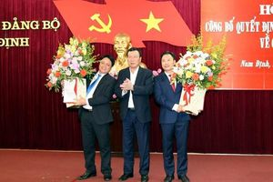 Nam Định có Trưởng Ban Nội chính và Trưởng Ban Dân vận Tỉnh ủy mới