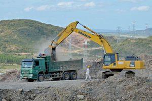 Khó khăn nguồn cung cấp vật liệu thi công cao tốc bắc-nam, đoạn qua Bình Thuận