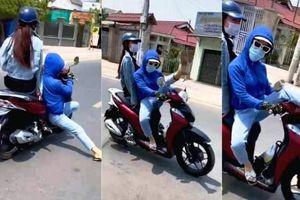 Triệu tập đối tượng 'làm xiếc' khi điều khiển xe máy trên đường