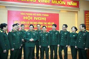 Văn phòng Bộ Quốc phòng lấy ý kiến cử tri đối với người ứng cử đại biểu Quốc hội khóa XV