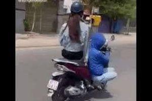 Xử phạt cô gái lái xe 'diễn xiếc' trên đường phố