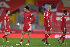 Liverpool lập kỷ lục tệ hại chưa từng có trong 129 năm lịch sử