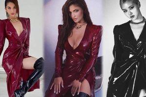 Ngọc Trinh diện váy đỏ latex kén dáng 'đụng độ' Kylie Jenner & Rosé BlackPink