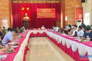 Họp báo về giải phóng mặt bằng dự án Khu dân kè Bắc sông Trà Bồng