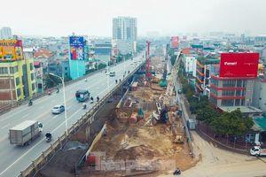 Cận cảnh đại công trường cầu Vĩnh Tuy 2 'nghìn tỷ' vượt sông Hồng