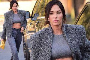Megan Fox mặc cực sành điệu, khoe eo thon ra phố