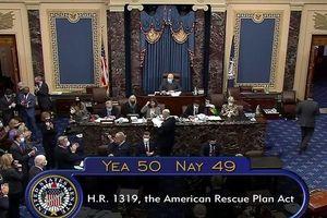 Thượng viện Mỹ thông qua dự luật cứu trợ 1.900 tỷ USD sau phiên họp dài kỉ lục