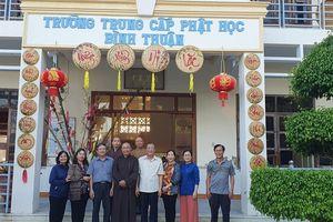 Bình Thuận: Trường Trung cấp Phật học trồng cây xanh trong khuôn viên