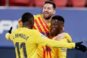 Messi kiến tạo 'thần sầu', Barca chỉ còn kém Atletico Madrid 2 điểm