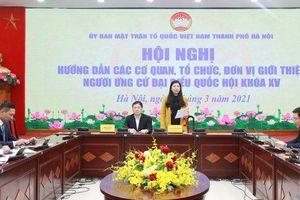 Hà Nội: 14 đại biểu Quốc hội được phân bổ do trung ương giới thiệu