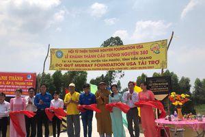 Hội Từ thiện Tường Nguyên khánh thành 3 cầu nông thôn tại Long An, Tiền Giang