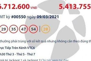 Kết quả xổ số Vietlott 9/3: Tìm người trúng giải khủng gần 93 tỷ đồng